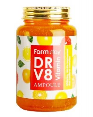 Сыворотка ампульная с витаминами FARMSTAY DR-V8 vitamin ampoule 250мл: фото