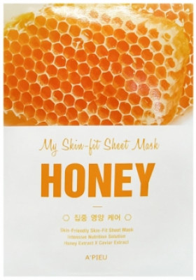 Тканевая маска с медом A'PIEU My Skin-Fit Sheet Mask Honey 25г: фото