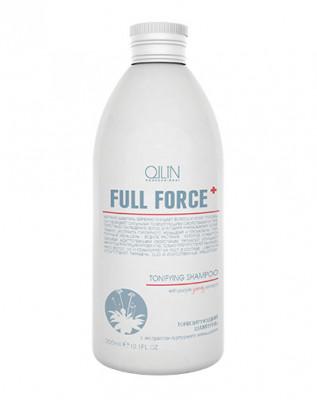 Шампунь тонизирующий с экстрактом пурпурного женьшеня OLLIN Full Force Tonifying 300мл: фото