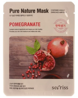 Маска тканевая с гранатом Anskin Secriss Pure Nature Mask Pack-Pomeganate 25мл: фото