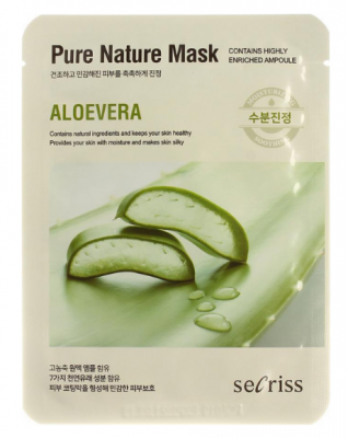 Маска тканевая с алоэ Anskin Secriss Pure Nature Mask Pack- Aloevera 25мл: фото