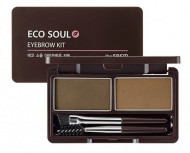Пудра для бровей THE SAEM Eco Soul Eyebrow Kit 01 Brown 2*2.5г: фото