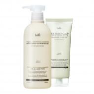 1+1 Шампунь Triplex3 Natural Shampoo + Маска Tea Tree Scalp Clinic Hair Pack 530ml+200g: фото