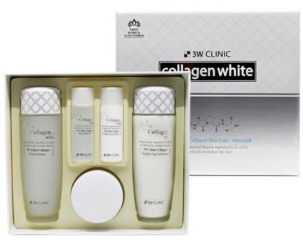 Набор для лица ОСВЕТЛЕНИЕ 3W CLINIC Collagen Whitening Skin Care Items 3 Set: фото