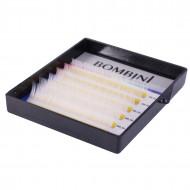 Ресницы Bombini Holi Белые, 6 линий, изгиб С MIX 8-13 0.10: фото
