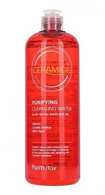 Мицеллярная вода с керамидами FarmStay Ceramide Purifying Cleansing Water 500мл: фото