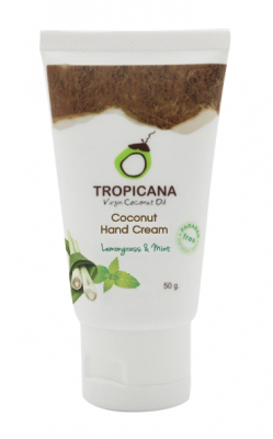 Крем для рук ЛЕМОНГРАСС и МЯТА TROPICANA COCONUT HAND CREAM LEMONGRASS & MINT 50г: фото
