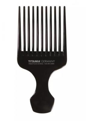 Гребень с большой ручкой Titania 150см черный: фото