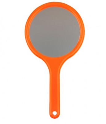 Зеркало двустороннее с ручкой Titania 285*145мм оранжевое: фото