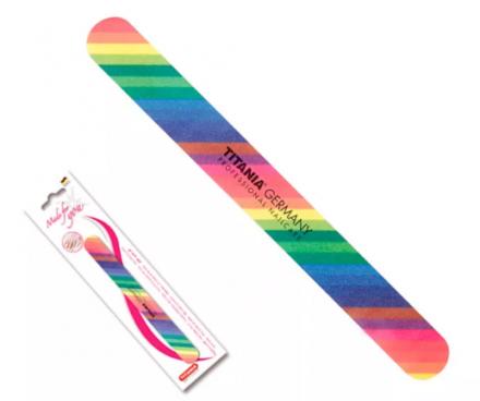 Пилка для ногтей двусторонняя цветная Titania: фото