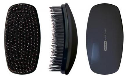 Щетка массажная TITANIA Detangling Brush 12см черная: фото