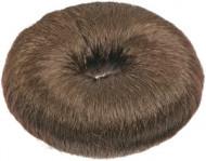 Кольцо для вечерних причёсок (хлопок) 9см Sibel темно-коричневое: фото